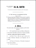 Bill H.R. 5070: Trade Preference Extension and Expansion Act of 2006