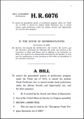 Bill H.R. 6076 Emergency Trade Programme Extension Act of 2006