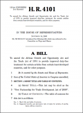 Bill H.R. 4101 - New Partnership for Trade Development Act of 2009