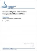 The US GSP: Background and renewal debate 2013