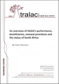 An overview of AGOA's performance, beneficiaries, renewal provisions and the status of South Africa