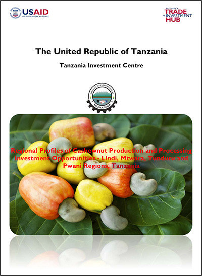 Tanzania: Regional profiles of cashew nut production and processing investment opportunities