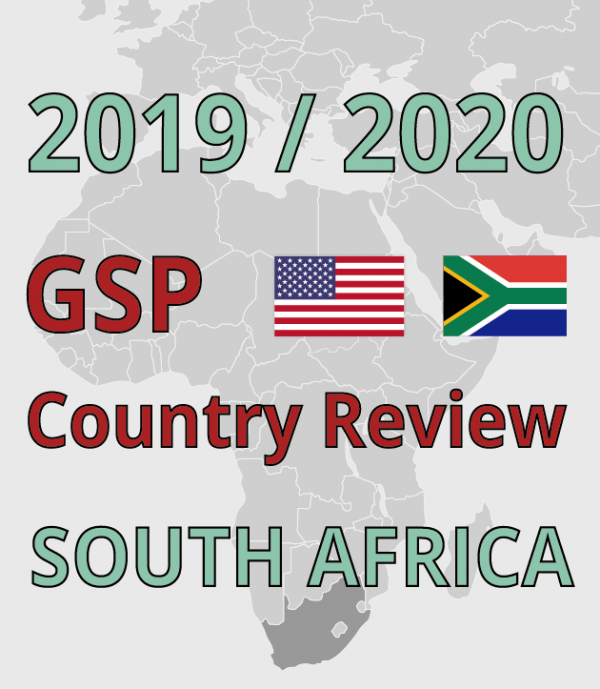 South Africa GSP Review: Programme and witness list