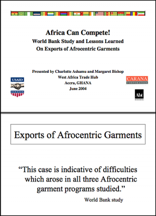 Tradehub Presentation - World Bank study and lessons learned from exports of afrocentric garments