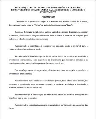 Angola - United States (TIFA) - portuguese