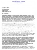 Copy of letter by Senators Coons and Isakson to Pres Zuma re poultry