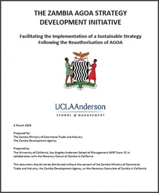 Zambia - National AGOA Strategy