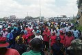 Workers in Lesotho demonstrate to 'save AGOA'