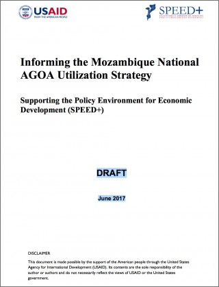 Mozambique - National AGOA Strategy (DRAFT)