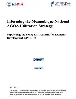 Mozambique - National AGOA Strategy (DRAFT)