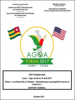 AGOA Forum 2017: General Report on the AGOA Forum in Togo (french)