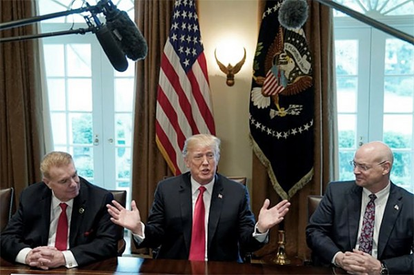 US president Trump announces intention to impose steep tariffs on steel, aluminum; stokes trade war fears