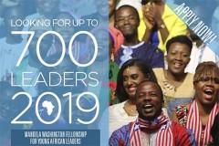 2019 Mandela Washington fellowship for young African leaders