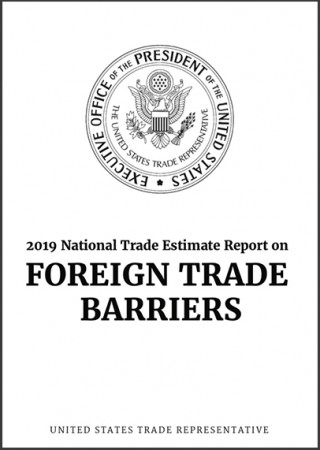 2019 US National trade estimate report on foreign trade barriers