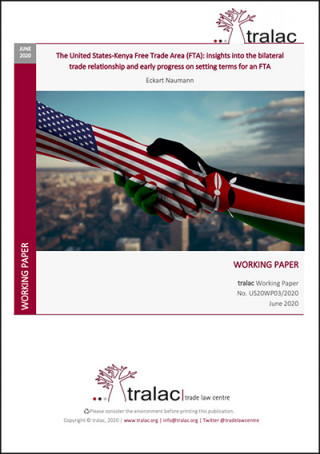 The US-Kenya FTA: insights into the bilateral trade relationship and early progress on setting terms for an FTA