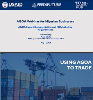 AGOA webinar presentation for Nigerian businesses