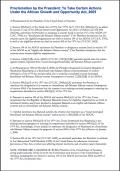 Proclamation on 2006 AGOA Country Eligibility
