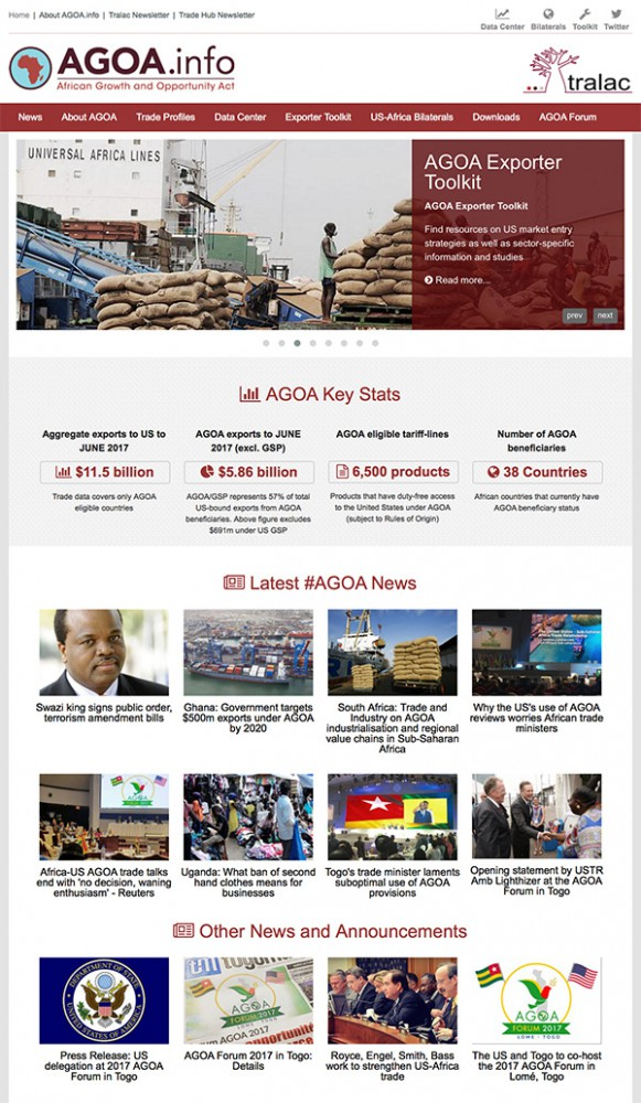 ABOUT the AGOA.info website
