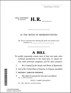 Bill H.R. 6406 includes Abundant Supply provisions