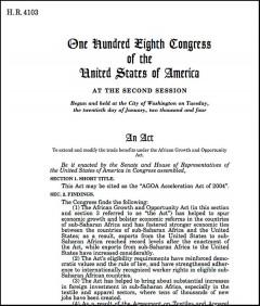 AGOA III legislation