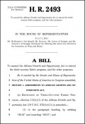 Bill HR 2493 to amend AGOA third country textile fabric provisions