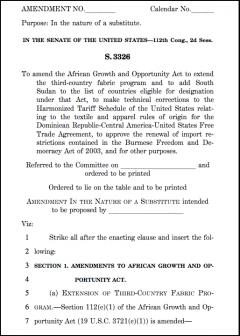 Proposed Coburn amendment to AGOA