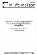 IMF Report - AGOA and its Rules of Origin: Generosity undermined?