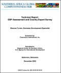 Technical Report: GSP assessment and country export survey - Tradehub