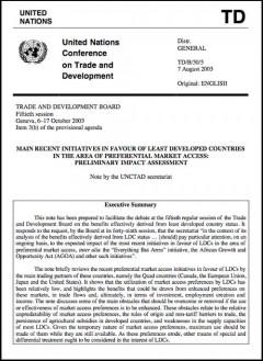 UNCTAD: Recent initiatives in favour of LDCs