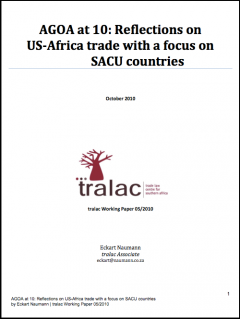 AGOA at 10: Reflections on US-Africa trade with a focus on SACU countries