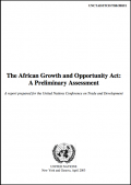 The African Growth and Opportunity Act: A preliminary assessment - UNCTAD (2003)