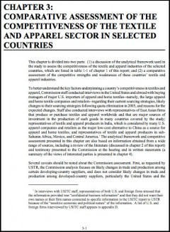 2003 Assessment of the Competitiveness of the Textile and Apparel Sector in sel. Countries
