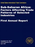 Sub-Saharan Africa: Factors affecting trade patterns of selected industries