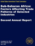 Sub-Saharan Africa: Factors affecting trade patterns of selected industries - Second Report 2008