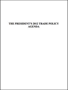 2012 Trade Policy Agenda and 2011 Annual Report