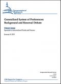 The US GSP: Background and renewal debate 2013