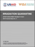 Irradiation quarantine - Export development feasibility Study Tradehub 2005