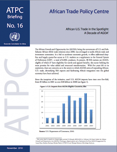 Policy Brief: African-US trade in the spotlight, a decade of AGOA