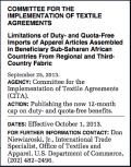 Apparel quota determination under AGOA for 2013-2014