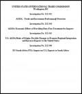 USITC press release: Investigation No. 332-542; 332-543; 332-544; 332-545