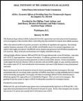 American Sugar Alliance - AGOA 2014 hearings - testimony