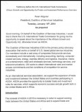 Coalition of Services Industries - AGOA 2014 hearings - testimony