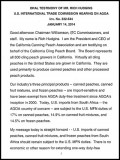 California Canning Peach Association - AGOA 2014 hearings - testimony