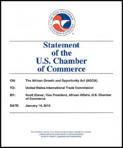 US Chamber of Commerce - AGOA 2014 hearings - testimony