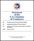 US Chamber of Commerce - AGOA 2014 hearings - testimony