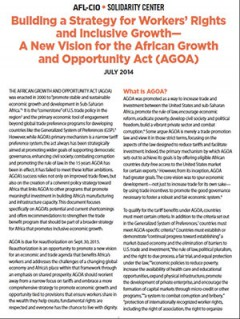 Building a strategy for workers' rights and Inclusive Growth— A new vision for AGOA