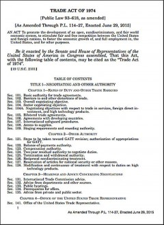 US Trade Act of 1974 (as amended July 31, 2015)