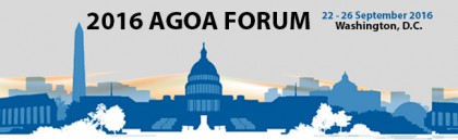 15th AGOA Forum September 22-26, 2016 in Washington D.C.