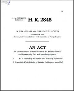 H. R. 2845 - AGOA Enhancement Act of 2015