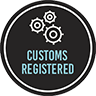 Registered with Customs